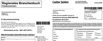 Formulare Regionales Brachnenbuch Niedersachsen und Gelbe Seiten von eutopa.trade